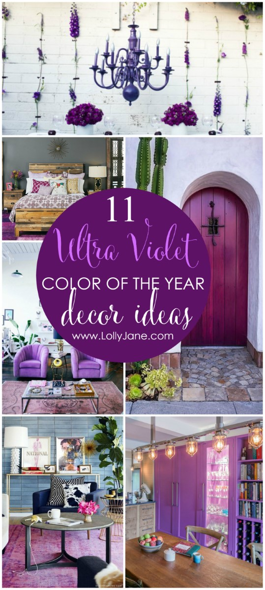 11 maneras de decorar con Ultra Violet