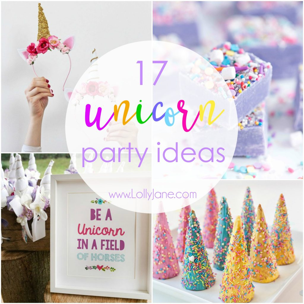 17 ideas de fiesta unicornio