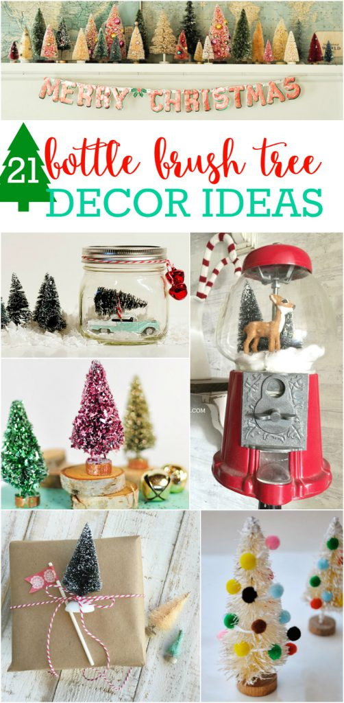 21 pincel de botella árbol de ideas de decoración