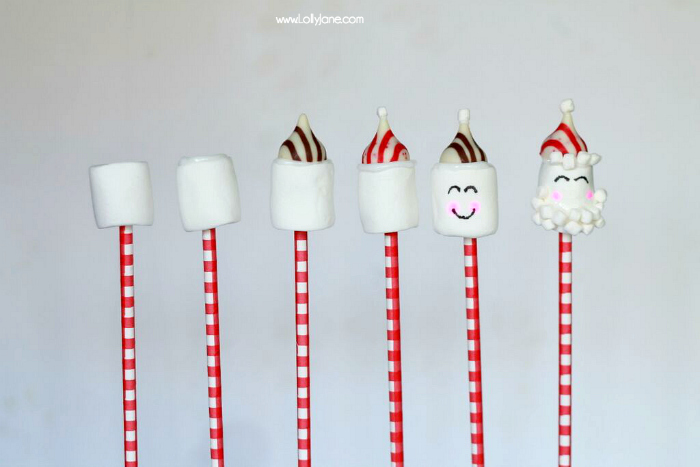 Candy Santa Cocoa Stir Stick