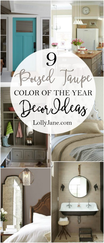 coloreado taupe 2017 color de las ideas de decoración del año