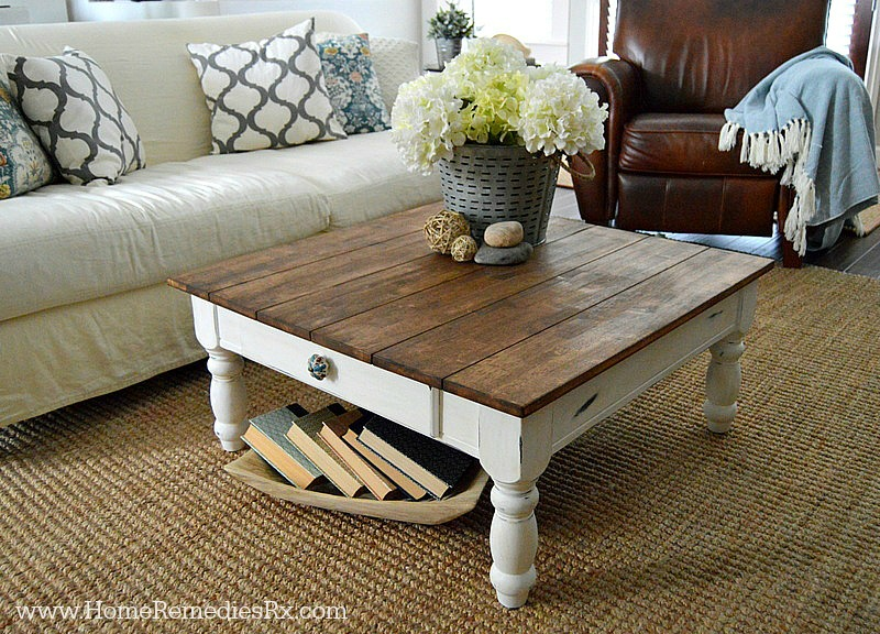 DIY Faux Planked de mesa
