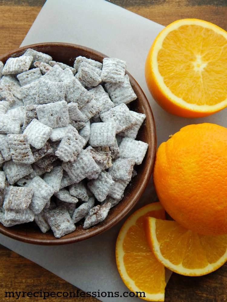 Easy 4 Ingredient Chocolate Orange Muddy Buddies