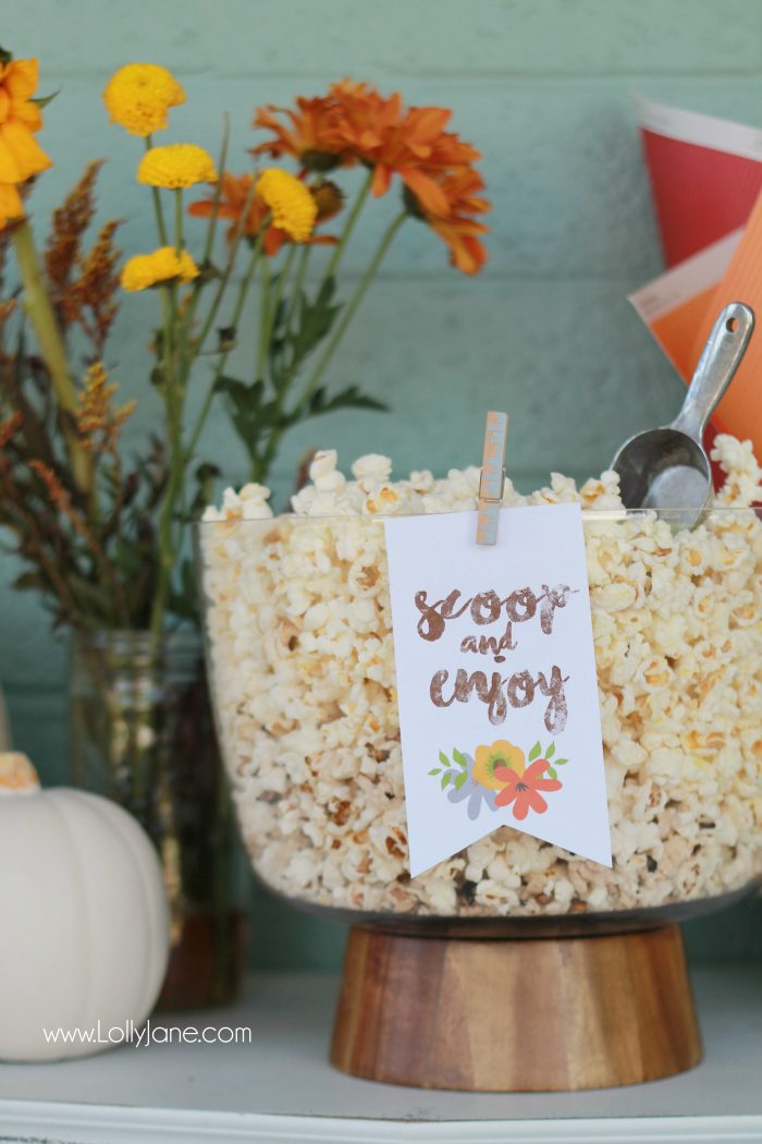 Easy Fall Popcorn Bar