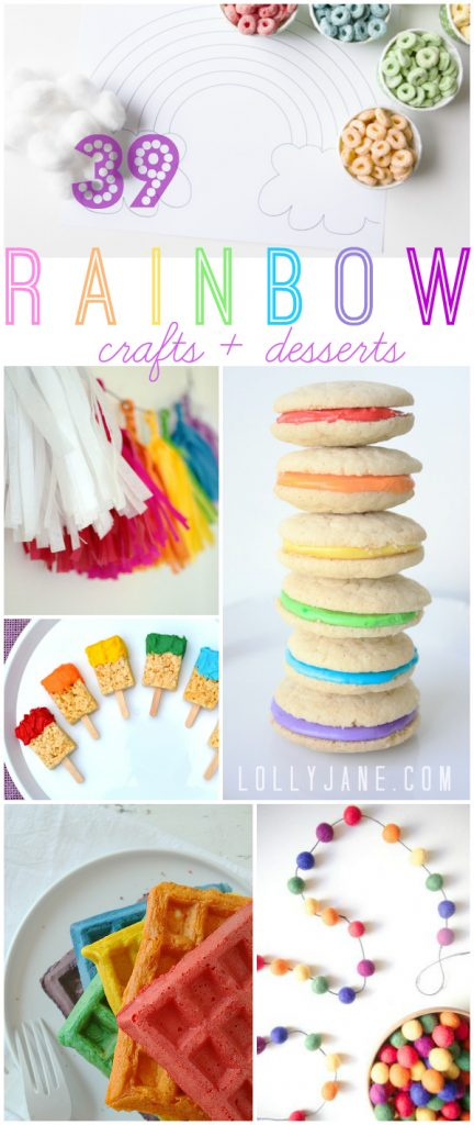 Ideas de Craft y Postre Rainbow