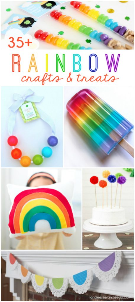 Ideas de Rainbow Craft y Treat