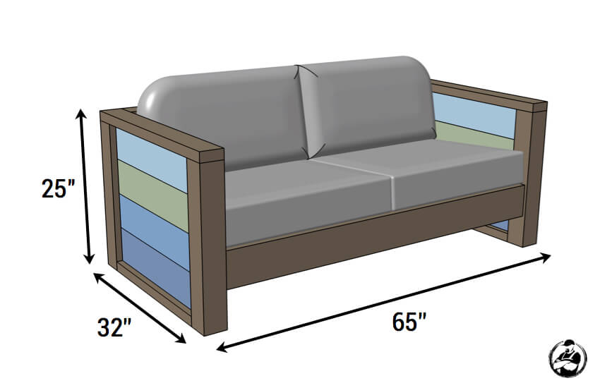 Loveseat de madera del tablón