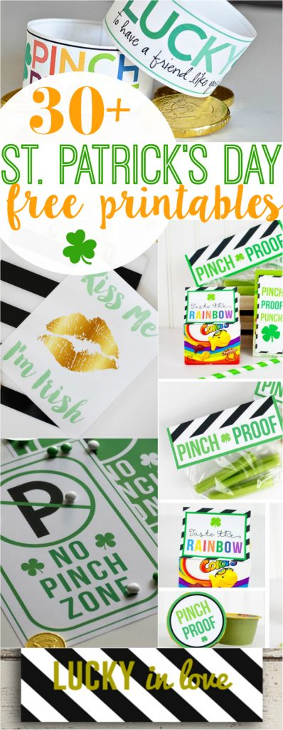 Printables de 30+ St Patricks Day gratis