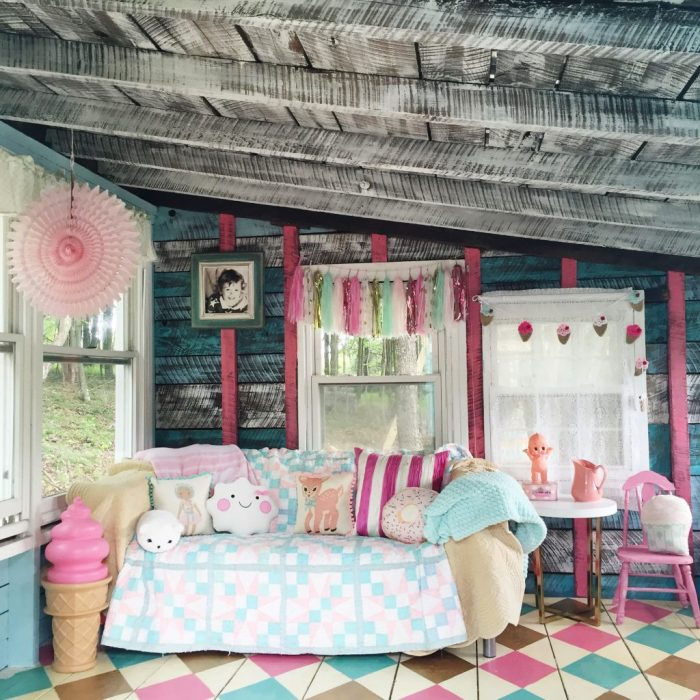 Shed Turned Playhouse Makeover