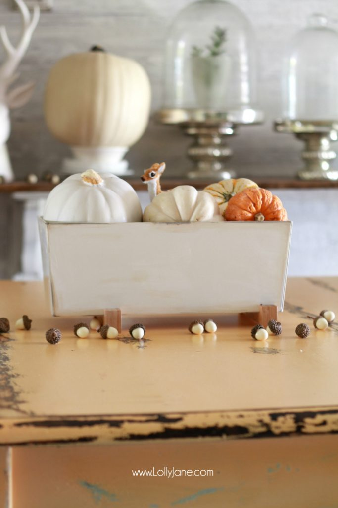 Simple caída Tablescape